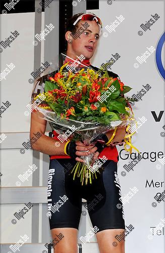 2011-09-11 / Wielrennen / seizoen 2011 / Elite zc. Wilrijk / Het podium met Tom Goovaerts (2e) ..Foto: Mpics