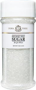 10201 Bright White Sparkling Sugar, Tall Jar 7.5 oz