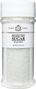 10201 Bright White Sparkling Sugar, Tall Jar 7.5 oz, India Tree Storefront
