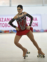 CALI – COLOMBIA – 22 – 09 – 2015: Maria Paulina Perez, deportista de Colombia, Solo Danza Mayores  Damas en el LX Campeonato Mundial de Patinaje Artistico, en el Velodromo Alcides Nieto Patiño de la ciudad de Cali. / Maria Paulina Perez, sportwoman from Colombia, during the Senior Solo Dance, in the LX World Championships Figure Skating, at the Alcides Nieto Patiño Velodrome in Cali City. Photo: VizzorImage / Luis Ramirez / Staff.