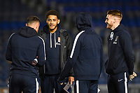 Northampton Town  players inspect the pitch before kick off during Portsmouth vs Northampton Town, Leasing.com Trophy Football at Fratton Park on 3rd December 2019