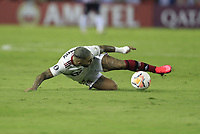 BARRANQUILLA, COLOMBIA - MARCH 04: Flamengo Gabriel Barbosa kicks the ball during the group A match of Copa CONMEBOL Libertadores between Junior and Flamengo at Estadio Metropolitano on March 4, 2020 in Barranquilla, Colombia. (Photo by Daniel Munoz/VIEW press via Getty Images)