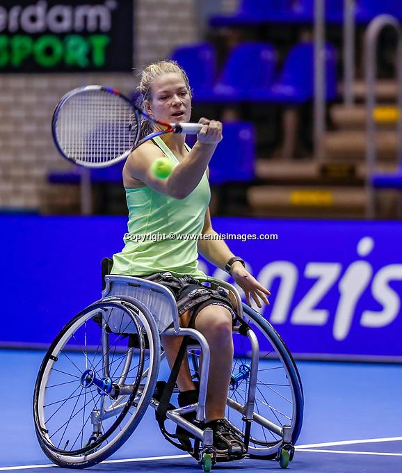 Rotterdam, Netherlands, December 12, 2017, Topsportcentrum, Ned. Loterij NK Tennis, Womans Wheelchair, Diede de Groot (NED) <br /> Photo: Tennisimages/Henk Koster