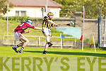 Niall O'Connell Abbeydorney v Tommy Barrett  Causeway in the Round Two Senior Hurling County Chamionship at Austin Stack Park in Tralee.