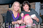 Shave or Dye: Taking part in the Shave or Dye fund raising event in aid of Listowel Hospice at McCarthy's Bar, Finuge on Sunday night last was David Trant, Behins, Listowel having his hair dyed pink by hair dressers Philomena O'Sullivan & Mary Melvin.