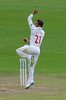 Andrew Salter in bowling action for Glamorgan during Glamorgan CCC vs Essex CCC, Specsavers County Championship Division 2 Cricket at the SSE SWALEC Stadium on 23rd May 2016