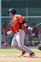 Baltimore Orioles minor league player Brian Ward #27 during a spring training game vs the Boston Red Sox at the Buck O'Neil Complex in Sarasota, Florida;  March 22, 2011.  Photo By Mike Janes/Four Seam Images