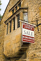 For Sale sign for Hayman Joyce in Chipping Campden, Gloucestershire, UK