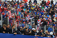 The crowd at the 1st during Day 2 Fourball at the Solheim Cup 2019, Gleneagles Golf CLub, Auchterarder, Perthshire, Scotland. 14/09/2019.<br /> Picture Thos Caffrey / Golffile.ie<br /> <br /> All photo usage must carry mandatory copyright credit (© Golffile | Thos Caffrey)