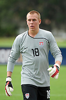 USA goalkeeper Cody Cropper (18). The US U-17 defeated the Academy Select team 3-1 during day one of the US Soccer Development Academy  Spring Showcase in Sarasota, FL, on May 22, 2009.