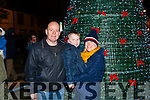 Pictured at the Abbeyfeale Switch On The Christmas Lights on Friday December 1st were Dylan Flynn with his parents Joe & Sandra. ( From Abbeyfeale)