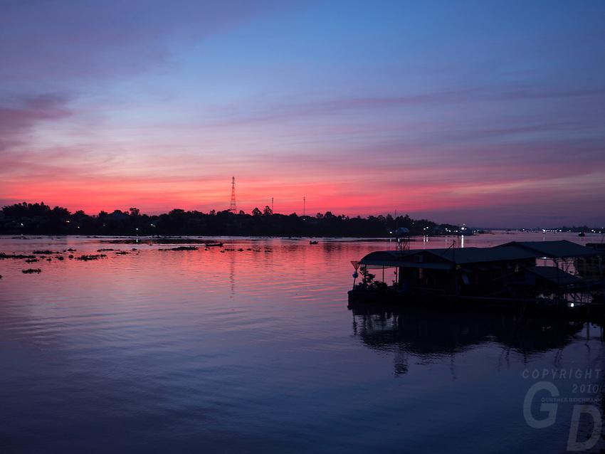 Sunrise at Chau Doc, Mekong Delta, Vietnam