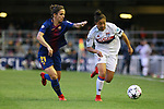 UEFA Women's Champions League 2017/2018.<br /> Quarter Finals.<br /> FC Barcelona vs Olympique Lyonnais: 0-1.<br /> Natasha Andonova vs Selma Bacha.