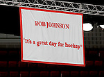 MADISON, WI - SEPTEMBER 29:  Banner on display at the Kohl Center in Madison, Wisconsin. (Photo by David Stluka)