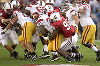 4 November 2006: Pannel Egboh during Stanford's 42-0 loss to USC at Stanford Stadium in Stanford, CA.
