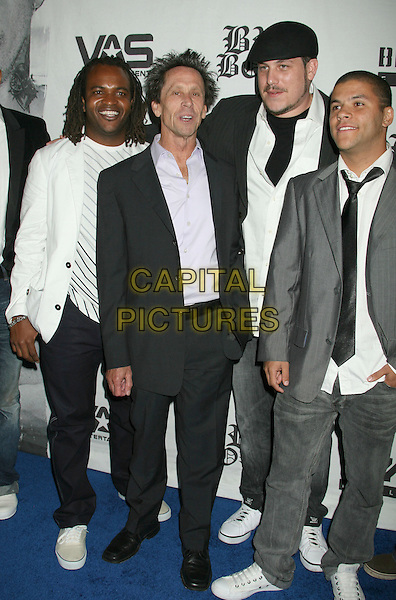 "BRIAN GRAZER with the Cast and crew of Bra Boys.""Bra Boys"" Los Angeles Screening held at the DGA Theater, West Hollywood, California, USA..February 24th, 2008.full length black suit grey gray .CAP/ADM/RE.©Russ Elliot/AdMedia/Capital Pictures."