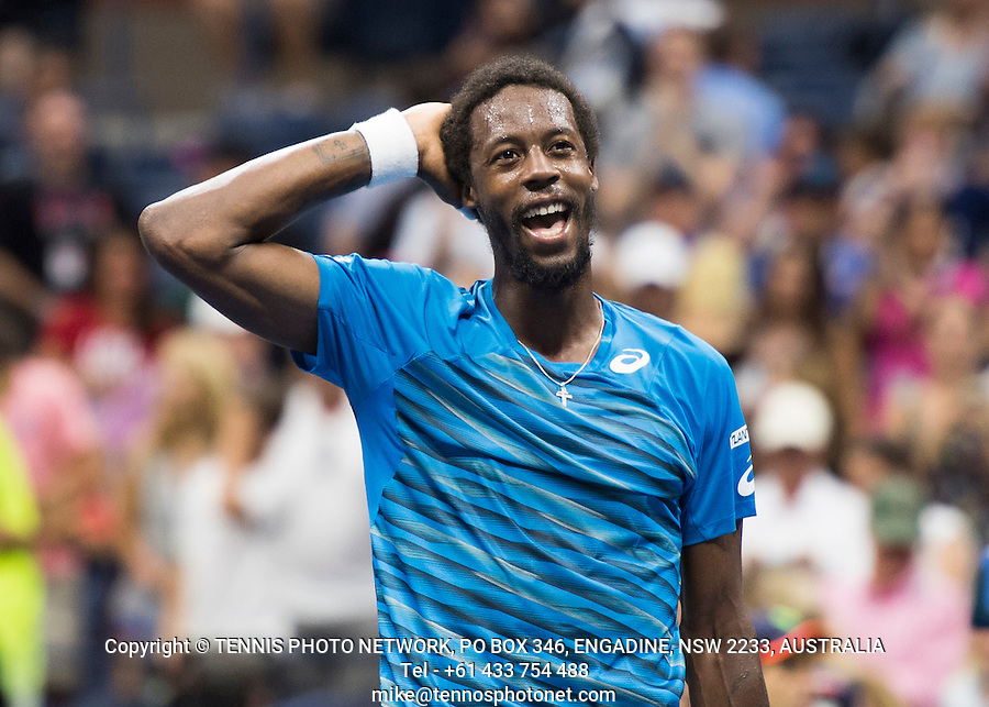 GAEL MONFILS (FRA)<br /> <br /> TENNIS - THE US OPEN - FLUSHING MEADOWS - NEW YORK - ATP - WTA - ITF - GRAND SLAM - OPEN - NEW YORK - USA - 2016  <br /> <br /> <br /> <br /> &copy; TENNIS PHOTO NETWORK