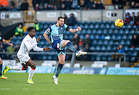 Paul Hayes of Wycombe Wanderers during the Sky Bet League 2 match between Wycombe Wanderers and Luton Town at Adams Park, High Wycombe, England on the 21st January 2017. Photo by Liam McAvoy.