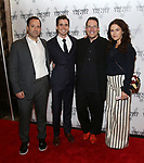 Greg Smith, Matt Doyle, Michael Mayer and Amanda Lipitz attends the Vineyard Theatre Gala 2018 honoring Michael Mayer at the Edison Ballroom on May 14, 2018 in New York City.