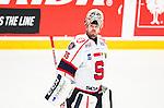 Stockholm 2014-09-11 Ishockey Hockeyallsvenskan AIK - S&ouml;dert&auml;lje SK :  <br /> S&ouml;dert&auml;ljes m&aring;lvakt Tim Sandberg <br /> (Foto: Kenta J&ouml;nsson) Nyckelord:  AIK Gnaget Hockeyallsvenskan Allsvenskan Hovet Johanneshovs Isstadion S&ouml;dert&auml;lje SK SSK portr&auml;tt portrait