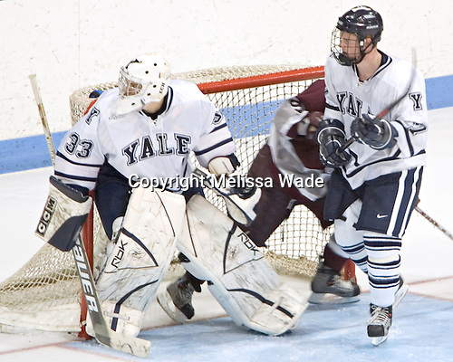 Alec Richards, Tyler Burton, Shawn Mole - Colgate University defeated Yale University 6-2 at Ingalls Rink in New Haven, CT on November 5, 2005.