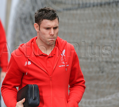 06.03.2016. Selhurst Park, London, England. Barclays Premier League. Crystal Palace versus Liverpool. James Milner of Liverpool arrives at the ground before the game. .