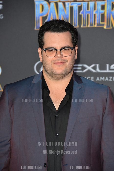 Josh Gad at the world premiere for &quot;Black Panther&quot; at the Dolby Theatre, Hollywood, USA 29 Jan. 2018<br /> Picture: Paul Smith/Featureflash/SilverHub 0208 004 5359 sales@silverhubmedia.com