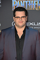 "Josh Gad at the world premiere for ""Black Panther"" at the Dolby Theatre, Hollywood, USA 29 Jan. 2018<br /> Picture: Paul Smith/Featureflash/SilverHub 0208 004 5359 sales@silverhubmedia.com"