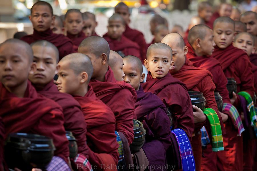 Monks at the Mahagandayon monastery, Mandalay, Myanmar