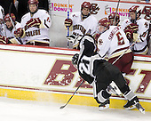 Chris Rooney (Providence - 21), Philip Samuelsson (BC - 5) - The Boston College Eagles defeated the Providence College Friars 4-1 on Tuesday, January 12, 2010, at Conte Forum in Chestnut Hill, Massachusetts.