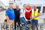 Ready for their Critical Mass bicycle ride in the Square in Tralee on Friday evening. L to r: John Murray, Seamus O'Mahony, Grainne Brick, David Elton and Terry Culloty