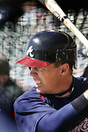 Chipper Jones takes a bit of batting practice during Atlanta Braves baseball spring training at Disney's Wide World of Sport complex in Lake Buena Vista, Fla., Monday, Feb. 27, 2006.(AP Photo/Brian Myrick)