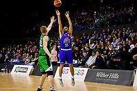Saints' Shea Ili in action during the NBL - Cigna Saints v Manawatu Jets at TSB Bank Arena, Wellington, New Zealand on Sunday 30 June 2019. <br /> Photo by Masanori Udagawa. <br /> www.photowellington.photoshelter.com