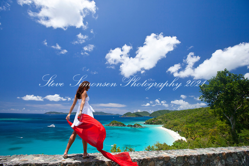 Natalie with a red scarf<br />