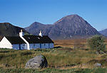 Blackrock Cottage on Rannoch Moor, Highlands of Scotland UK