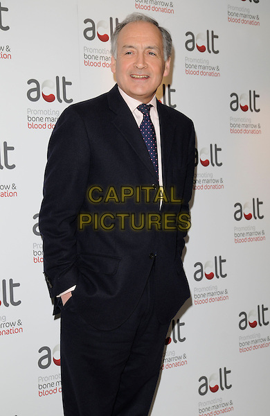 ALISTAIR STEWART .Inside arrivals at the ACLT launch Party, Riverbank Park Plaza Hotel, London, England, April 28th 2008..half length black jacket suit  tie hands in pockets.CAP/CAN.©Can Nguyen/Capital Pictures