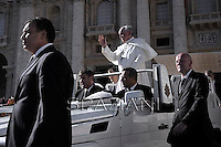Pope Francis during his weekly general audience in St. Peter square at the Vatican, Wednesday.6 november  2013