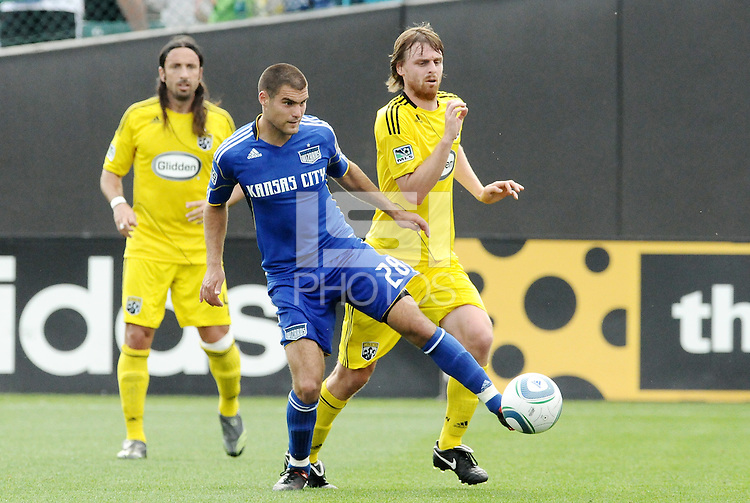 Graham Zusi,..Kansas City Wizards were defeated 1-0 by Columbus Crew at Community America Ballpark, Kansas City, Kansas.