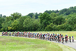 The peloton in action during Stage 6 of the Criterium du Dauphine 2017, running 147.5km from Parc des Oiseaux - Villars-les-Dombes to La Motte-Servolex, France. 9th June 2017. <br /> Picture: ASO/A.Broadway | Cyclefile<br /> <br /> <br /> All photos usage must carry mandatory copyright credit (&copy; Cyclefile | ASO/A.Broadway)