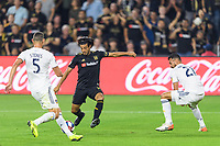Los Angeles, CA - October 24, 2019.  Carlos Vela scored the first of his two goals as LAFC defeated the Los Angeles Galaxy 5 - 3 in the Western Conference semifinal match at Banc of California stadium in Los Angeles.
