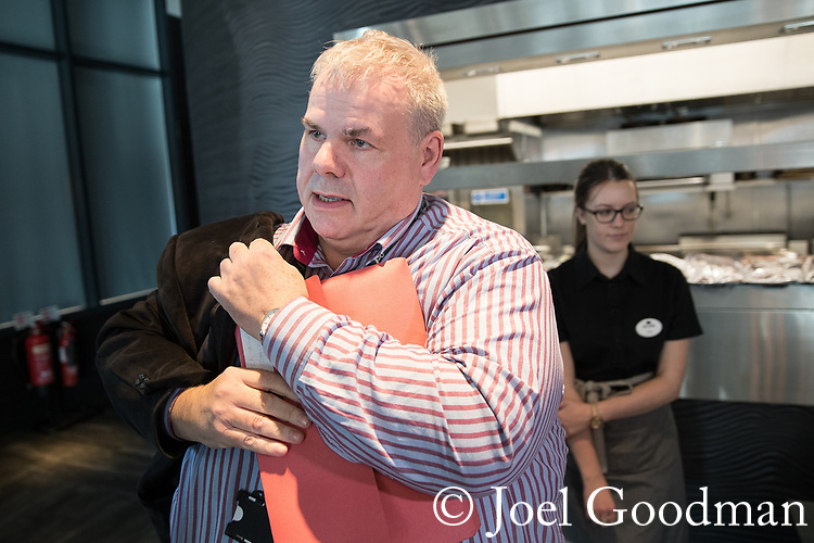© Joel Goodman - 07973 332324 . FILE PICTURE DATED 27/10/2017 of RICHARD FARNELL , former leader of Rochdale City Council , at the Lowry Centre in Salford . Farnell faces a police investigation after the Rochdale Sex Abuse enquiry today (12th April 2018) published its report which said that he lied to them whilst under oath . The report in to sexual abuse by men, including MP Cyril Smith , at Knowl View School was published today, 12th April 2018 . Photo credit : Joel Goodman