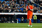 Real Madrid´s Iker Casillas celebrates a goal during La Liga match at Santiago Bernabeu stadium in Madrid, Spain. February 14, 2015. (ALTERPHOTOS/Victor Blanco)