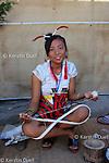 Postgraduate student at Hornbill festival, Kohima