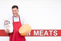 Owner Artie Elias, at his butcher Shop in Roanoke Rapids, North Carolina.