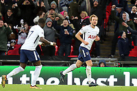 Harry Kane of Tottenham celebrates scoring the second goal during Tottenham Hotspur vs AFC Wimbledon, Emirates FA Cup Football at Wembley Stadium on 7th January 2018