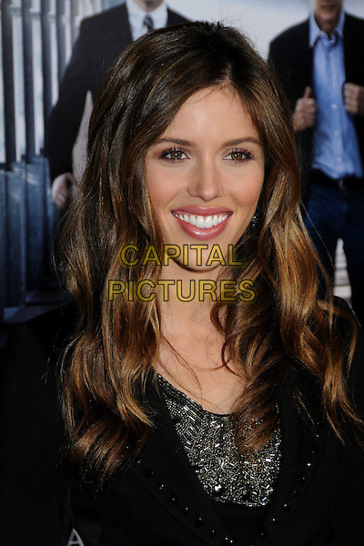 "KAYLA EWELL.""Extraordinary Measures"" Los Angeles Premiere held at Grauman's Chinese Theatre, Hollywood, California, USA, .19th January 2010..portrait headshot black smiling silver beaded .CAP/ADM/BP.©Byron Purvis/AdMedia/Capital Pictures."