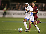 2 December 2005: UCLA's Danesha Adams (25) is chased by FSU's Colette Swensen. The UCLA Bruins defeated the Florida State Seminoles 4-0 in their NCAA Division I Women's College Cup semifinal at Aggie Soccer Stadium in College Station, TX.