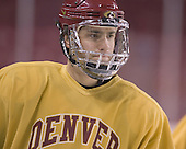 Adrian Veideman - Reigning national champions (2004 and 2005) University of Denver Pioneers practice on Friday morning, December 30, 2005 before hosting the Denver Cup at Magness Arena in Denver, CO.