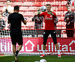 Jake Eastwood of Sheffield Utd warms up during the English Championship League match at Bramall Lane Stadium, Sheffield. Picture date: August 5th 2017. Pic credit should read: Simon Bellis/Sportimage
