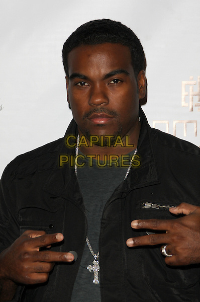 RODNEY JERKINS .MusicMogul.com Launch Party held at The Thompson Hotel, Beverly Hills, California, USA, 24th November 2008..half length silver cross necklace v peace signs hands gestures black jacket shirt .CAP/ADM/KB.©Kevan Brooks/Admedia/Capital PIctures